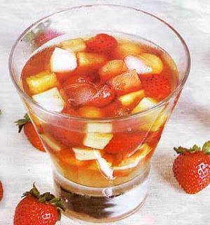 cara membuat es teh buah, es teh buah, teh buah sehat