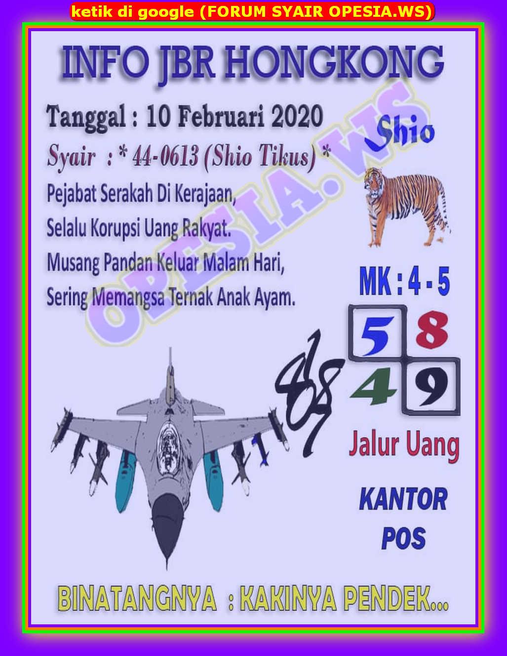 Kode syair Hongkong Senin 10 Februari 2020 2