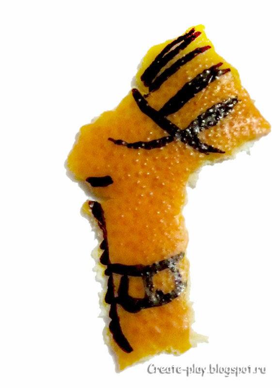 поделки из мандариновых шкурок