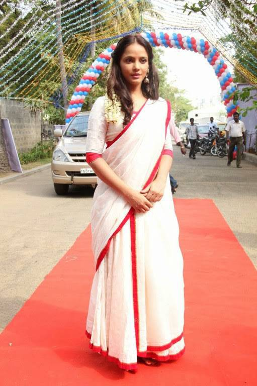 Neetu Chandra Latest Hot Stills In White Saree