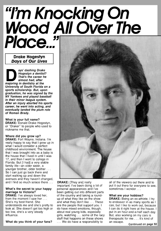 Days Of Our Lives: I'm Knocking On Wood All Over The Place - Drake Hogestyn