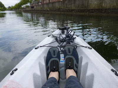 Kayaking on Dublin's Grand Canal