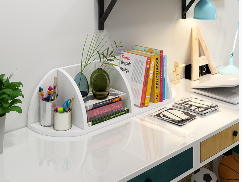 Home Office Decor Wall Corner Storage Rack Multi Purpose