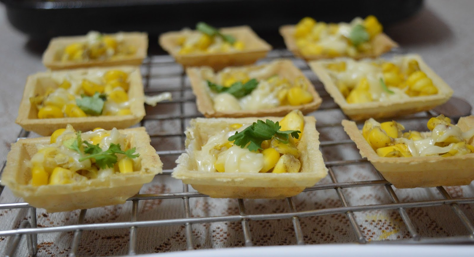 Babi 39 s recipes corn canapes chaat easy canape recipe for Canape receipes