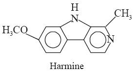 Harmine-Synonyms Telepathine; Leucoharmine; Yageine