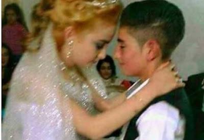 بالصور زواج طفليين سوريين لم يبلغوا من العمر 13 عام والسبب صدم الجميع ! !