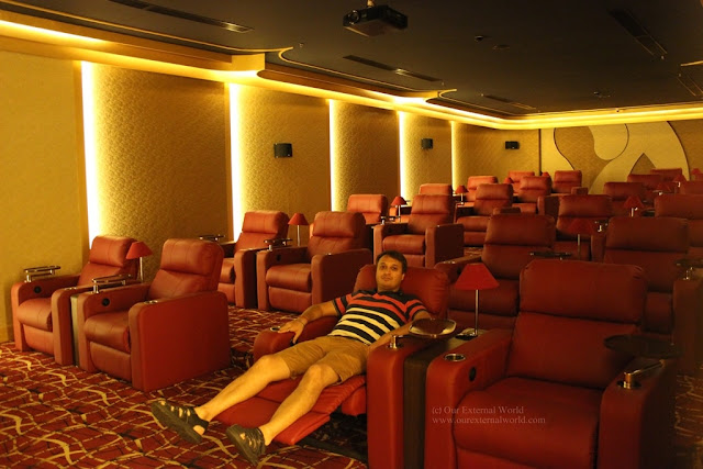 Private Theater with 24 Recliner seats