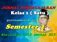 Jurnal Pembelajaran Tematik SD/MI Kelas 1 Semester 2 Kurikulum 2013 Revisi 2017