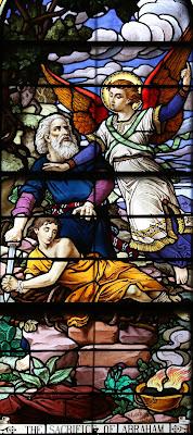 Imagem do sacrifício de Abraão, vitral, #1