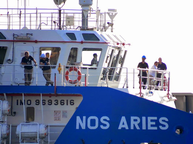 Nos Aries offshore support vessel, IMO 9693616, port of Livorno