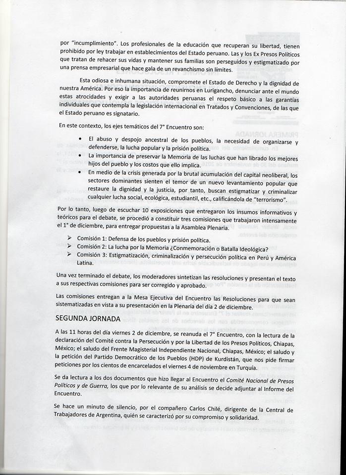 CONVOCATORIA - SEGUNDA INDEPENDENCIA: 2016