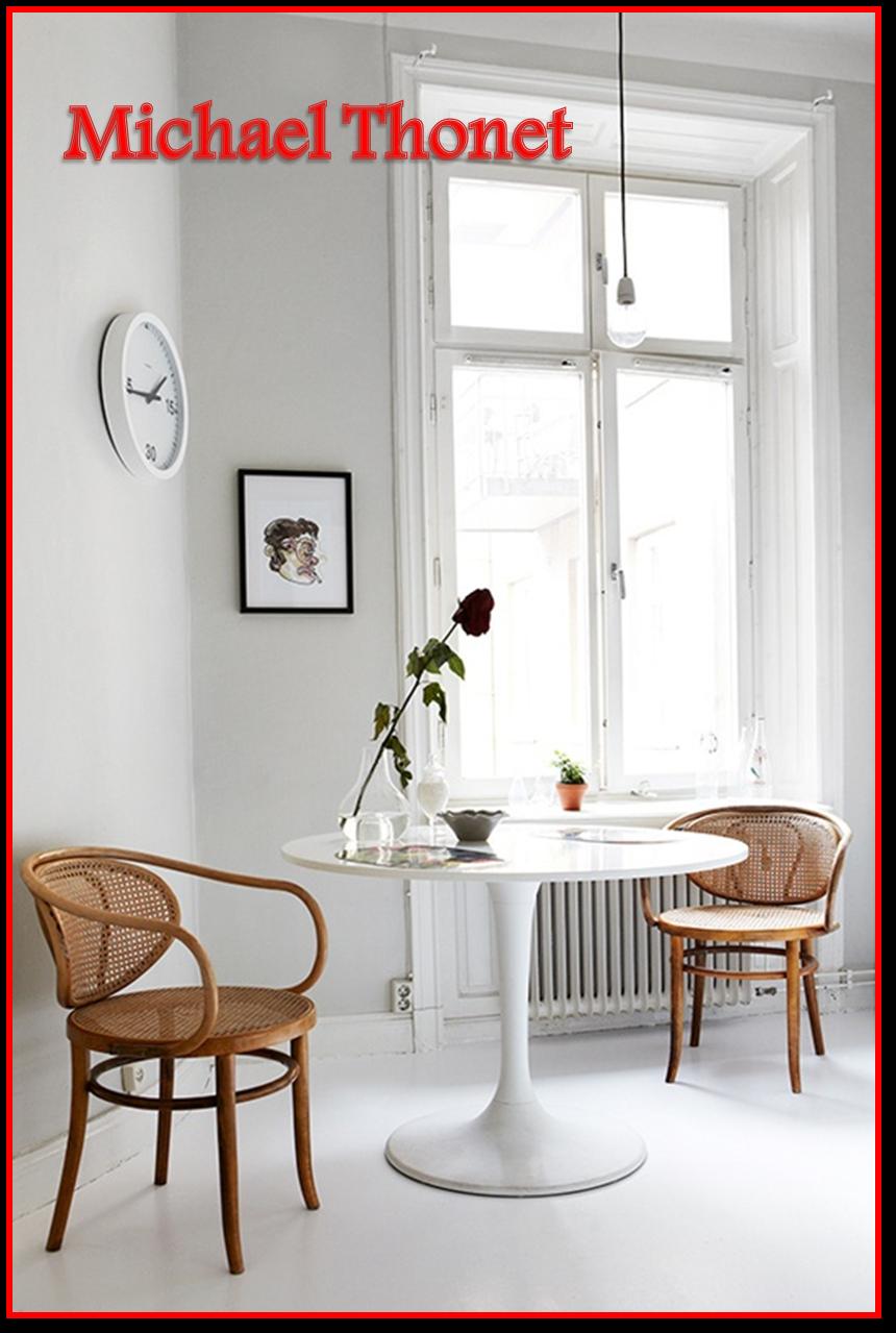 836db5705 Em 1859, Michael Thonet criou a cadeira modelo 214, seu maior sucesso. Com  design simples e funcional e com a beleza dos traços suaves, ela resistiu  ...