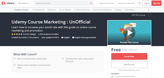 Udemy Course Marketing : UnOfficial