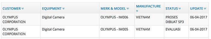 Зарегистрированы две новые камеры Olympus