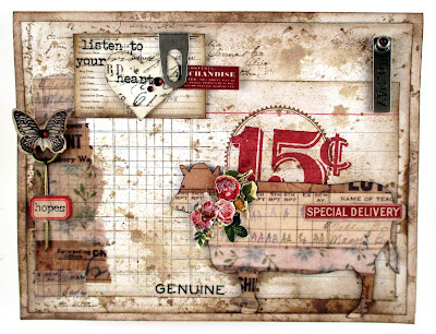 Stampers Anonymous On The Farm Stampers Anonymous Etcetera Tim Holtz Idea-Ology Elementary Design Tape Tim Holtz Remnant Rub-Ons Snippets For The Funkie Junkie Boutique