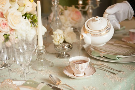 vintage teapot and teacup