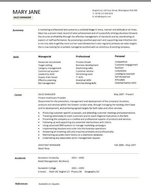 sales manager resume samples sample resumes