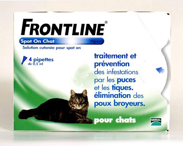 Produit anti-tiques chats : FRONTLINE Combo Anti-parasitaire Puce et Tique pour chat
