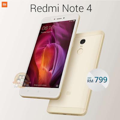 Lazada Malaysia Price Mi Store Redmi Note 4 (Gold) 3GB / 32GB