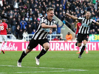 Sport: Newcastle beat Manchester United to go out of relegation zone