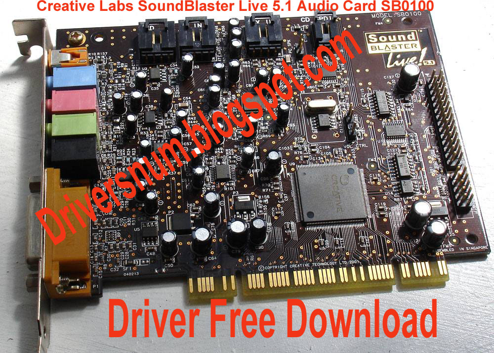 Creative SB0100 Sound Blaster Card Live 5.1 Audio Driver ...