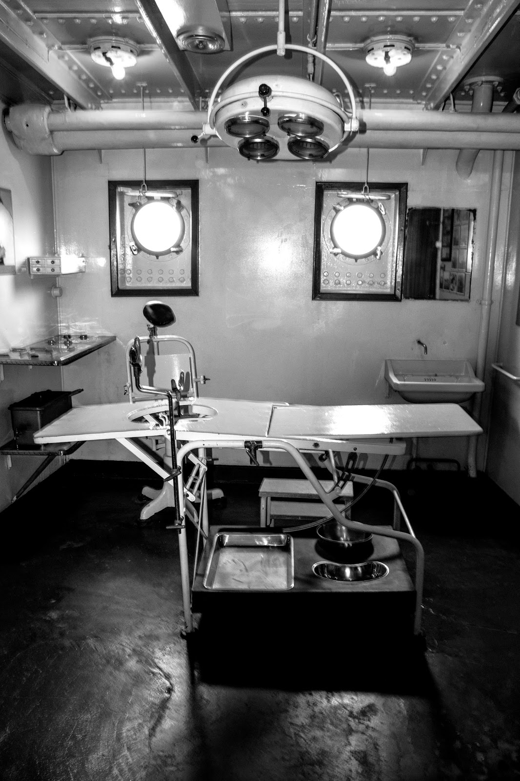O Navio Gil Eannes, O Navio Gil Eannes. Hospital Ship Museum. Horror Equipment
