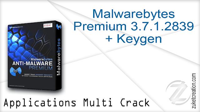 Malwarebytes Premium 3.7.1.2839 + Keygen