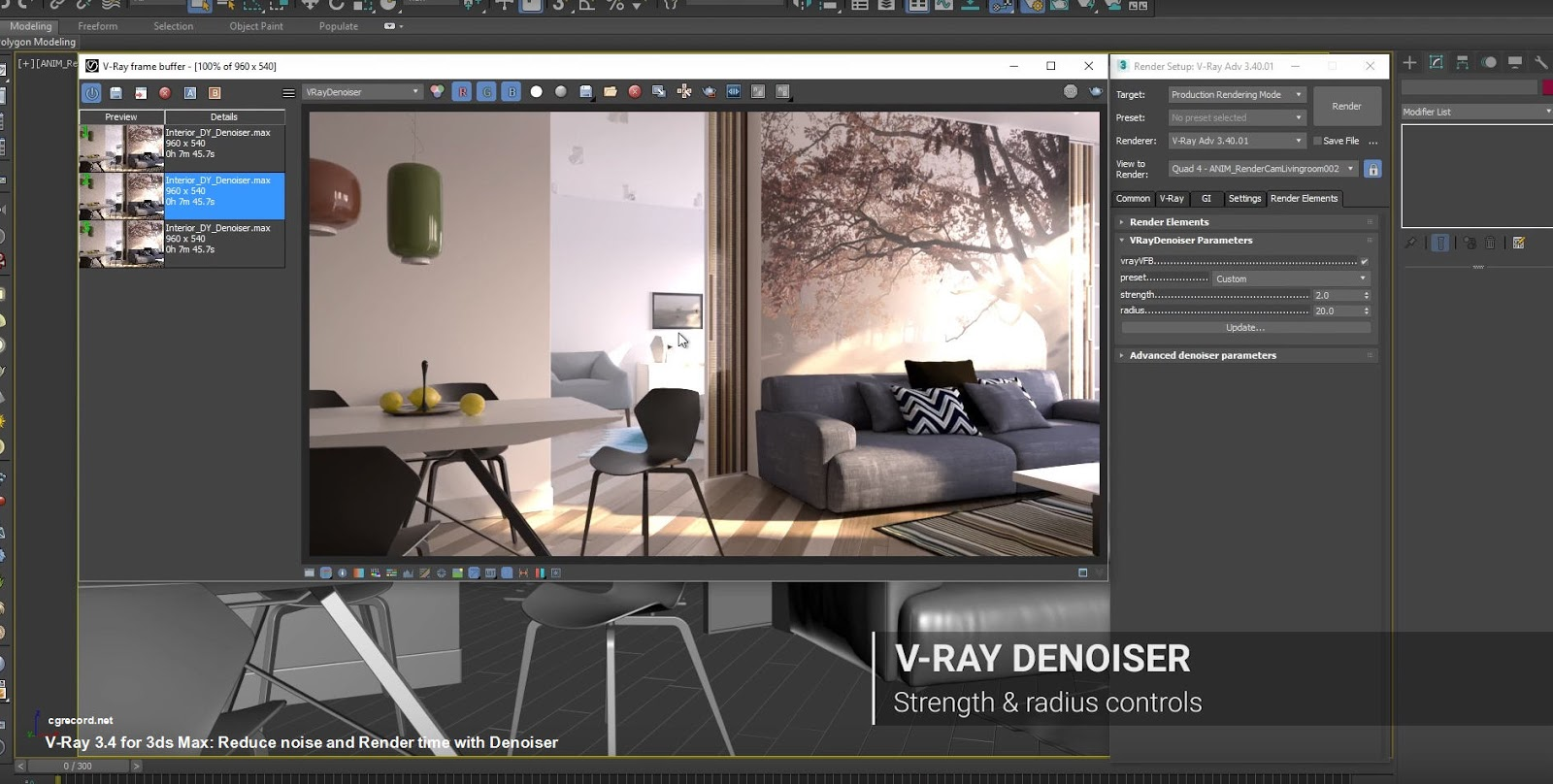V-Ray 3 4 for 3ds Max: Reduce noise and Render time with