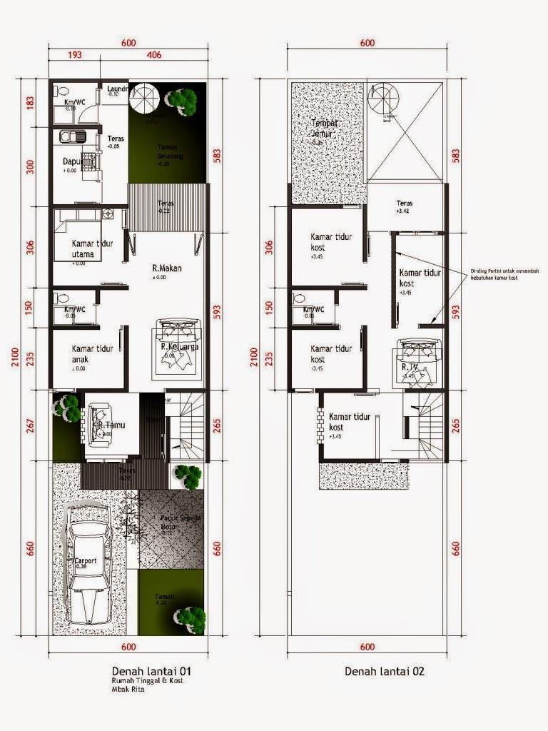 Gambar Desain Rumah Ukuran 10 X 10  Gontoh