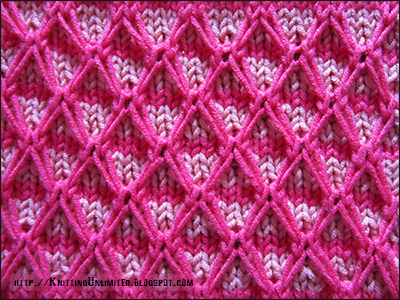 ac7b9464d Two-color Diamond Quilting Pattern - Knitting Unlimited