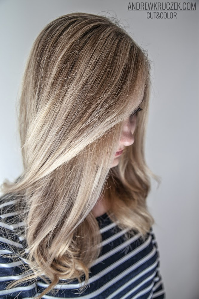 Andrzej Kruczek Cut And Color Platinum Blond On Long Hair