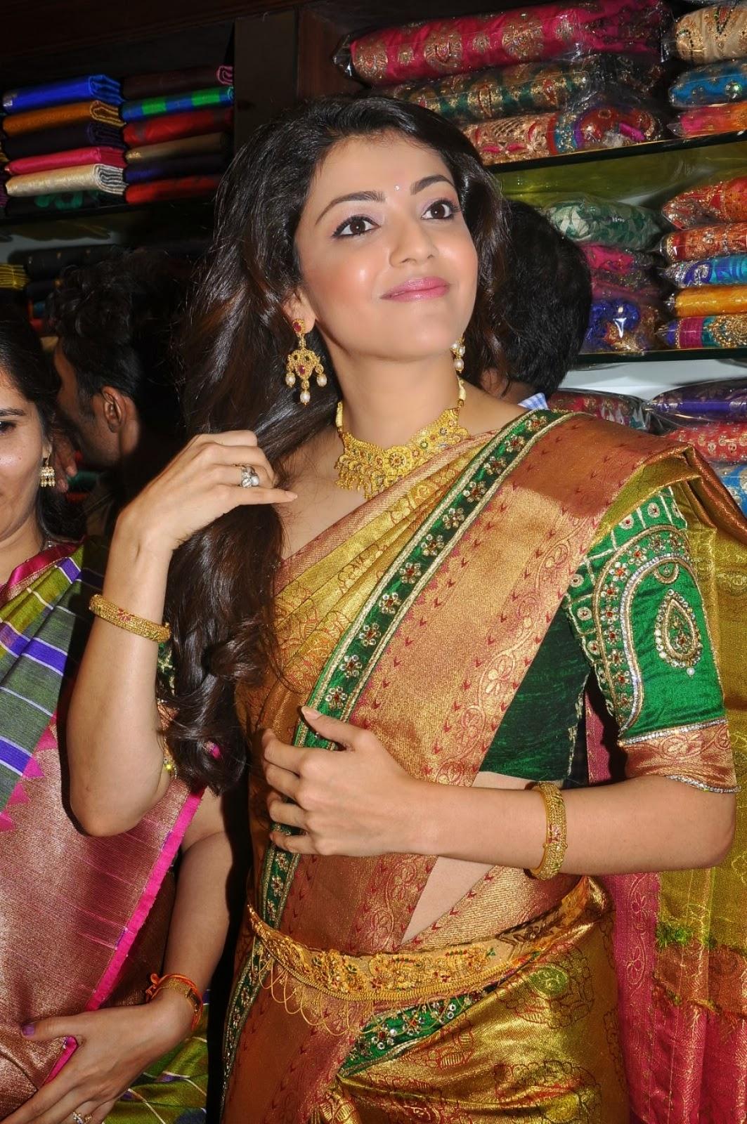 Kajal Agarwal Hot Saree Stills 3