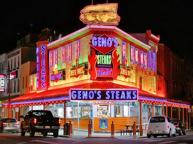 Restaurantes Geno's Steak e Pat's King of Steak