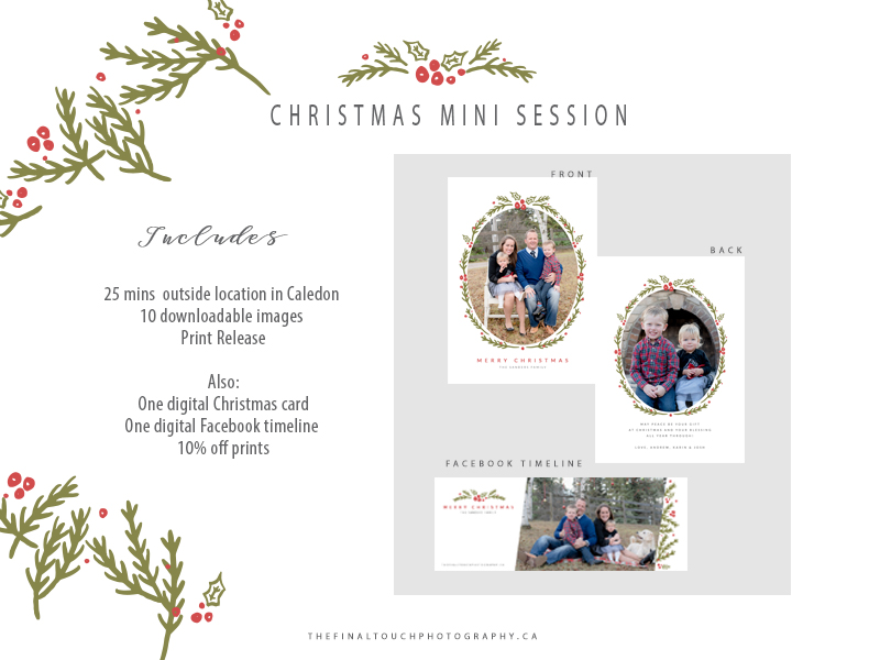 caledon bolton christmas mini session