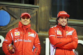 alonso and massa in madonna di campiglio
