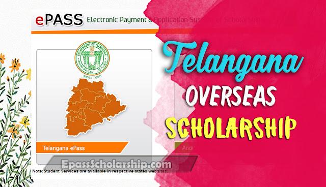 Telangana Epass Overseas Scholarship