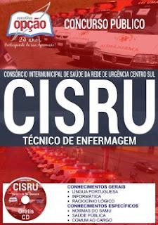 Apostila Concurso CISRU Centro Sul - todos os cargos.