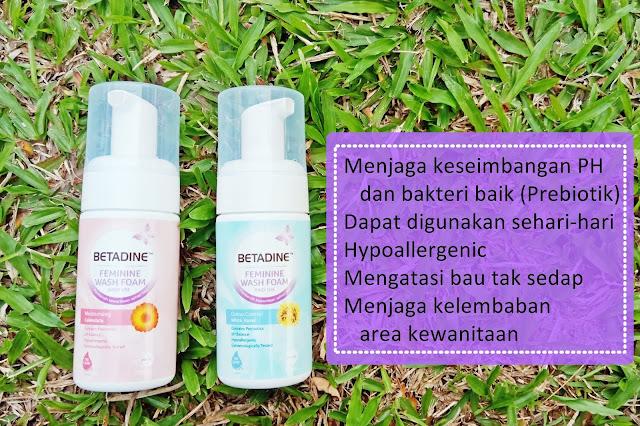betadine feminine wash foam pembersih organ kewanitaan