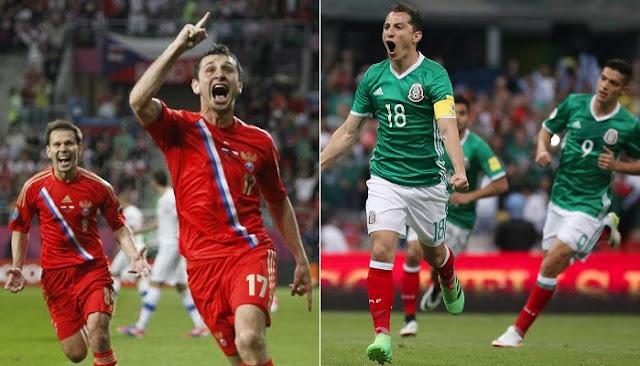 Mexico vs Rusia en vivo