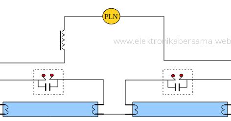 Rangkaian Lampu Tl Dengan Dua Lampu Dan Satu Ballast Elektronika Bersama