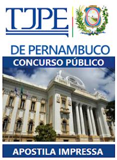 Apostila TJ Pernambuco Técnico Judiciário - Impressa com vídeo-aula para o concurso Tribunal de Justiça de Pernambuco - TJ PE. (Grátis Testes).
