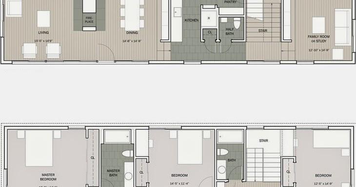 Planos casas modernas plano casa moderna de 3 5 m x 12 m for Casa moderna under 35