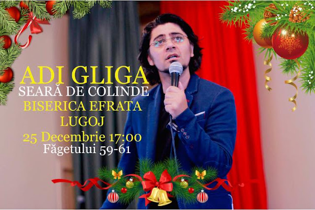 Concert de colinde cu Adi Gliga la Biserica Efrata Faget
