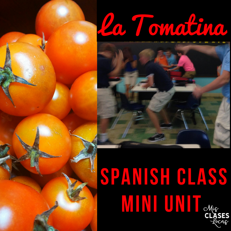La Tomatina: Mini Unit to start Spanish class - Mis Clases Locas