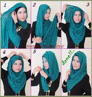 Hijab Pashmina Kaos Modern Cantik