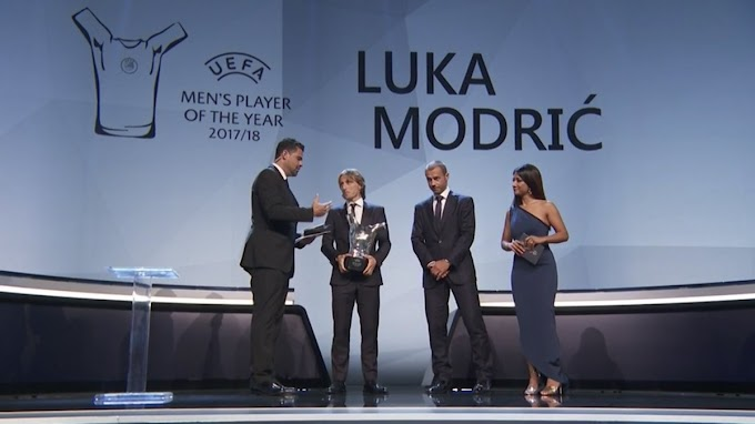 Real Madrid midfielder Luka Modric beats Cristiano Ronaldo and Mohamed Salah to win UEFA's Men's Player of the Year award