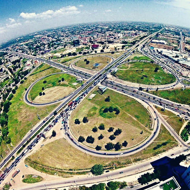Tetteh Quarshie Interchange In Accra, Ghana.