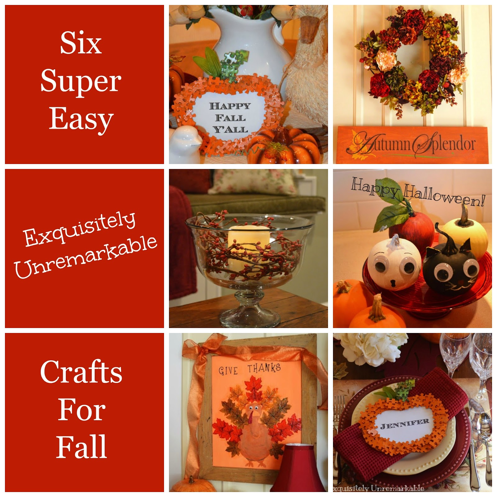 Six Easy Crafts for Fall