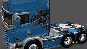 Scania RJL Carolina Panthers skin