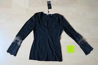 Erfahrungsbericht: StyleDome Damen Spitze Langarm Kragen Runde Elastische Shirt Tops